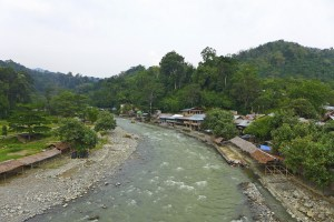 Bukit Lawang village on the Bohorok River, Gunung Leuser NP