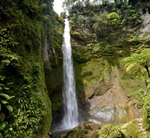 Beautiful Mamabu Waterfall, Sumatra