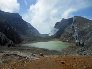 The spectacular Gamkonora volcanic craters, Halmahera Island