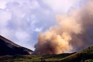 Mt Lokon erupting in 2011