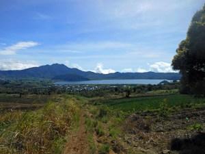 Back down to Lake Mooat at the foot of Mt Ambang