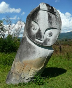 Palindo megalith on the Sepe Plateau, Lore Lindu National Park