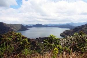 San Nggoang volcanic crater lake as seen from Mt Golodewa
