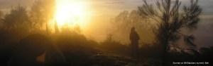 Sunrise from the summit of Mt Batukaru, Bali