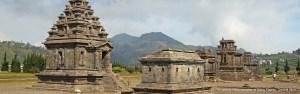 Ancient Hindu temples at Dieng Plateau, Central Java