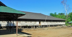 Dayak longhouse in Meritus Mountains, South Kalimantan