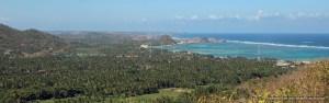 View of Kuta and Lombok's southern coastline