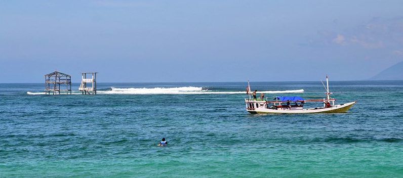 Famous Lakey Peak surf break, west Sumbawa, Indonesia