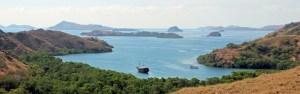 View over the Lesser Sunda Islands from Rinca Island, Komodo NP