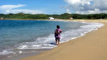 Beautiful Tambakrejo Beach on Java's south-central coast