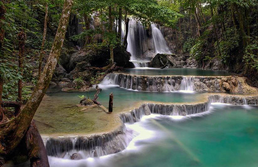 Mata Jitu Waterfall on Moyo Island, Lesser Sunda Islands, Indonesia