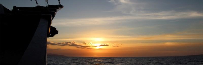 Sunset sailing in the Lesser Sunda Islands, Indonesia