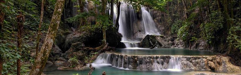 Mata Jitu Waterfall on Moyo Island, Indonesia