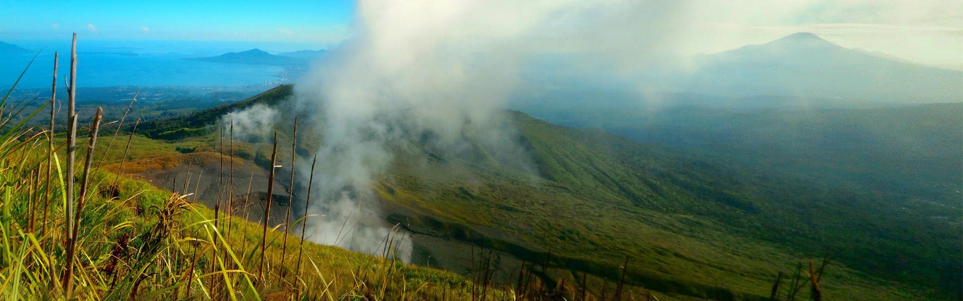 Tompaluan crater in the Mt Lokon-Empung volcanic complex