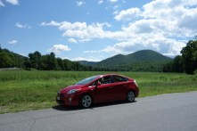 Our low-to-the-ground Prius in the Charlemont area