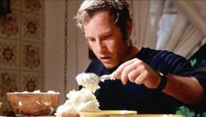 Roy Neary serves dinner
