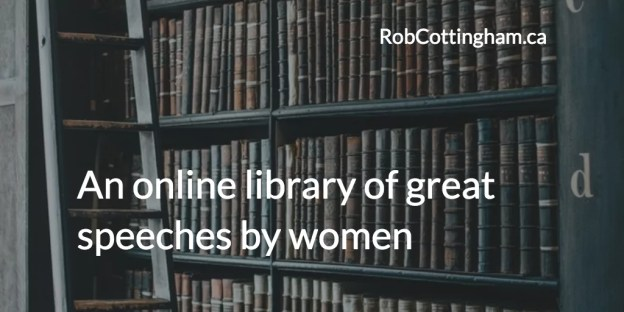 An online library of great speeches by women