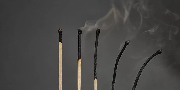 photo of burnt matches