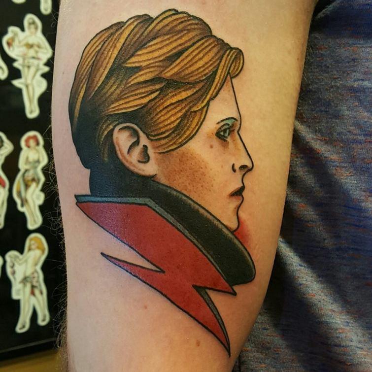 tattoo of David Bowie