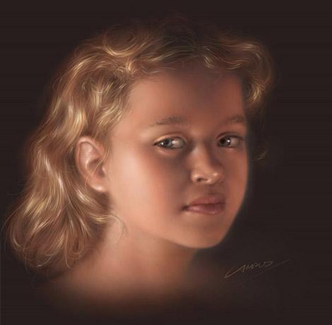 Digital Portrait Tutorial - Final Image