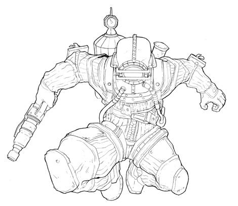 Photoshop Tutorial: Bioshock Videogame Digital Painting