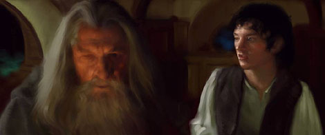 Painter Tutorial: Lord Of The Rings Characters Portraits - Step 2