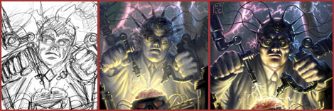 Photoshop & Painter Tutorial : Mad Scientist