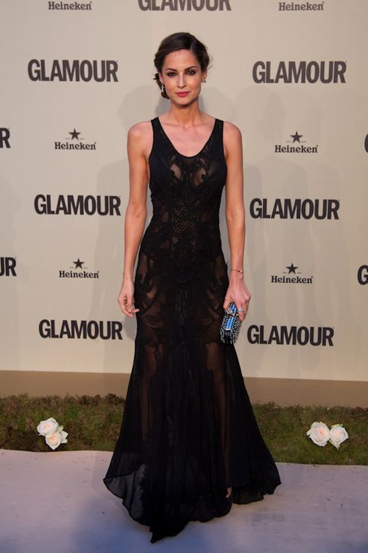 Ariadne Artiles in Roberto Cavalli at the Glamour Magazine 10th Anniversary Galav