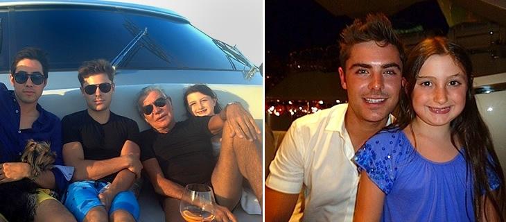 Roberto and Ester Cavalli with Zac Efron