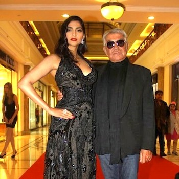 Roberto Cavalli with Sonam Kapoor