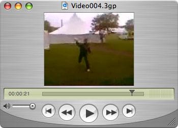 Hooligan throws a juice bottle