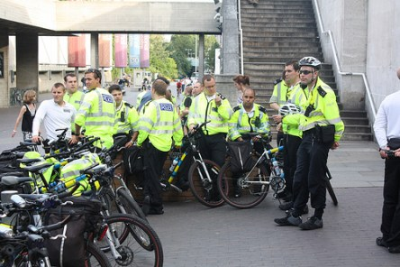 Cycle Mounted Police at the National Theatre.  CC Licence.