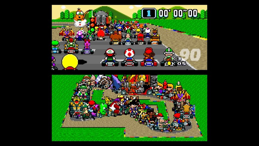 Super Mario Kart with 100 Players