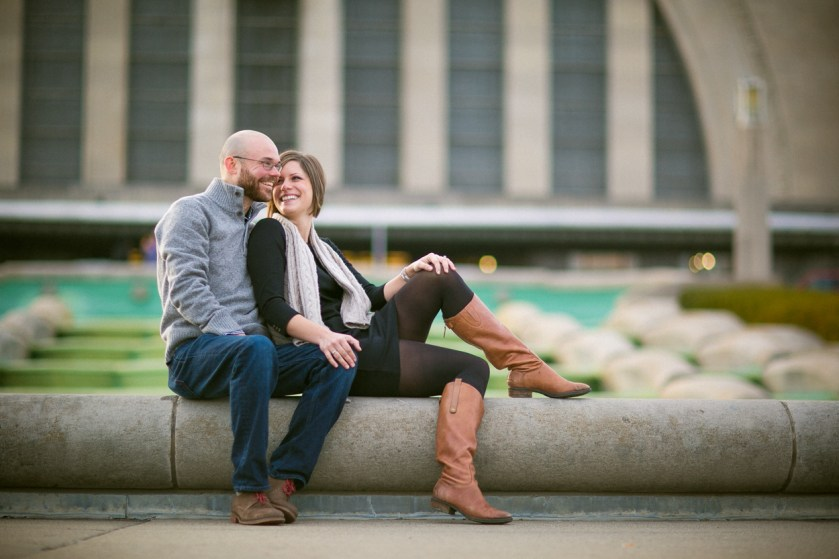 engagement photography Museum Center