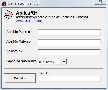 calcular el rfc