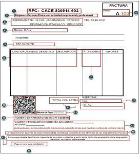 factura con codigo de barras bidimensional 2012