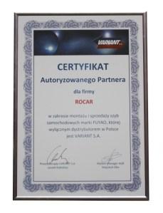 certyfikat Rocar Variant Fuyao