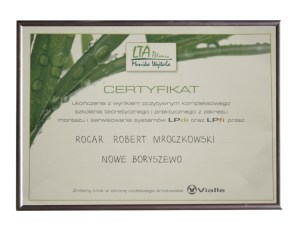 certyfikat LPDI LPFI