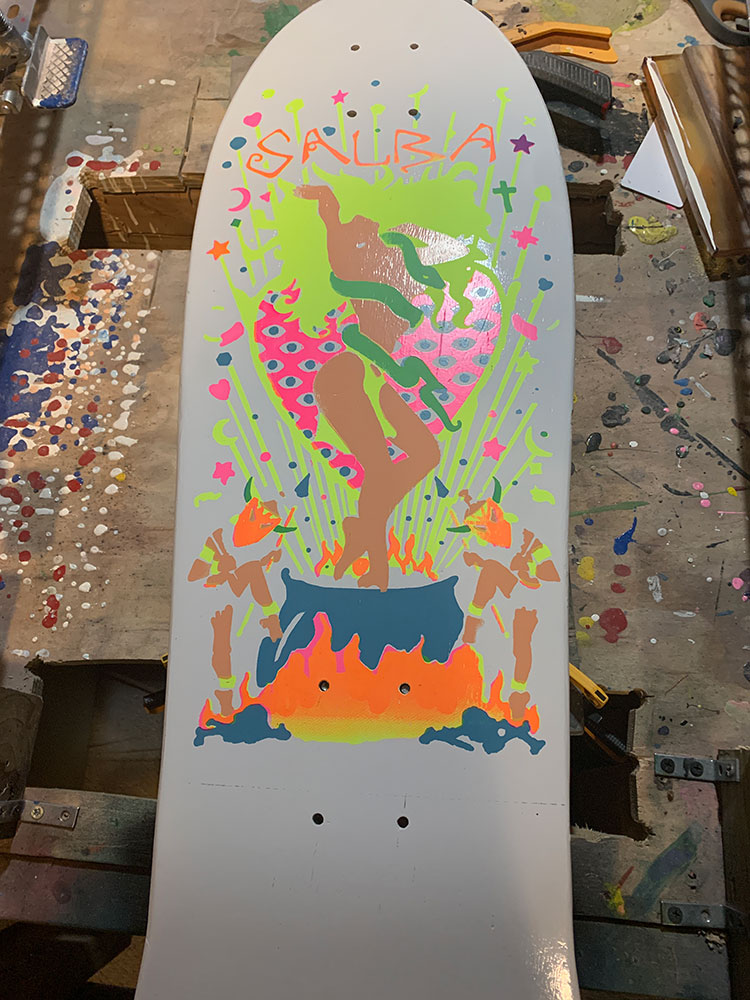 "SANTA CRUZ skateboards STEVE ""SALBA"" ALBA WITCH DOCTOR restoration"