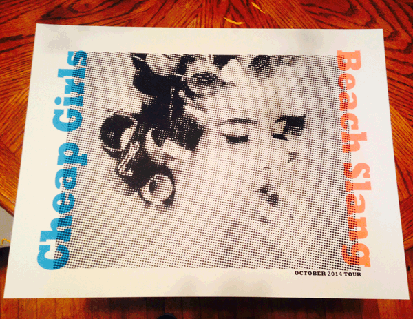cheap girls / beach slang tour poster