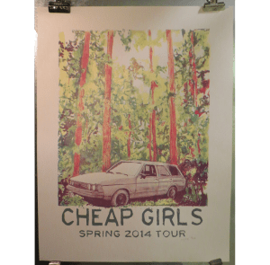 cheap girls tour poster