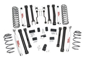 "2010 12 RoughCountryJeepZJ4 2 300x199 Rough Country's New 4"" Jeep ZJ Kit Offers More Parts for Less"