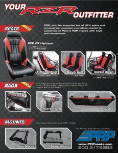 RZRsellsheet 231x300 PRP Seats is your RZR Outfitter