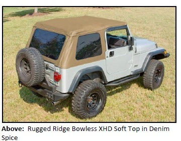 BOWLESS XHD SOFT TOP 2 RUGGED RIDGE INTRODUCES NEW BOWLESS XHD SOFT TOP WITH DOOR SURROUND FOR 1997 2006 JEEP® TJ WRANGLER