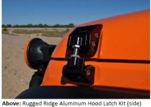 image003 220x155 RUGGED RIDGE IMPROVES '07 '13 JEEP® JK WRANGLER STYLING AND DURABILITY WITH NEW ALUMINUM HOOD LATCHES
