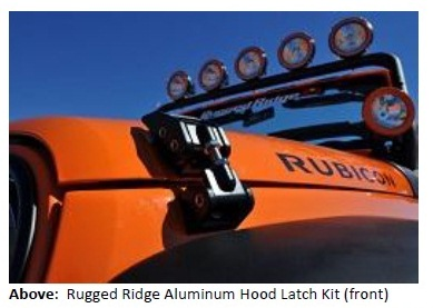 image005 RUGGED RIDGE IMPROVES '07 '13 JEEP® JK WRANGLER STYLING AND DURABILITY WITH NEW ALUMINUM HOOD LATCHES