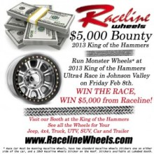 Raceline2013KOHBounty 300x300 220x220 Raceline Wheels Monster $5,000 Bounty at 2013 King of the Hammers