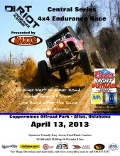 Dirt Riot 4.13 169x220 Dirt Riot Continues Central Series Endurance 4x4 Racing This Weekend at the Coppermines OffRoad Park