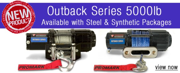 5000 pound winches 600x243 ProMark Offroad Introduces New 5000 lb UTV Winch