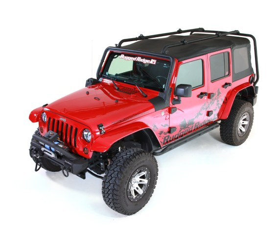 Rugged Ridge Sherpa Roof Rack for 4 Door JK Wrangler 570x480 Rugged Ridge Announces New Sherpa Roof Rack System for 07 14 JK Wrangler
